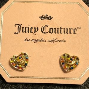 NWT•Juicy Couture Multi color logo hearts